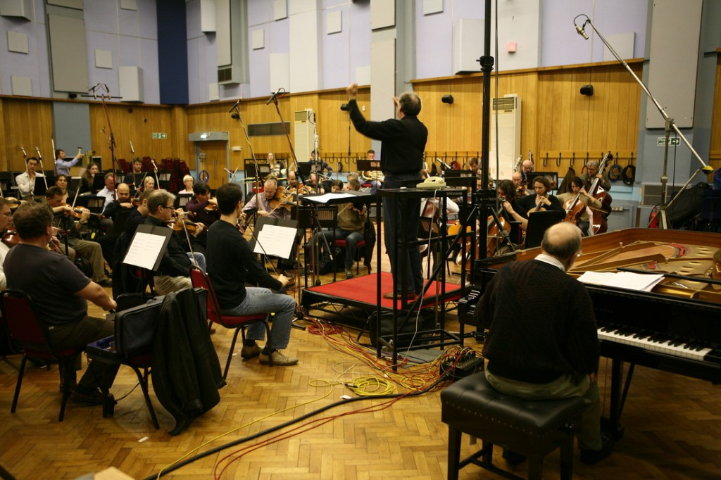 Recording with the London Symphony Orchestra at Abby Roads Studio